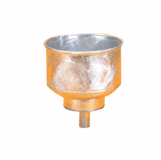 Galvanized Funnel Easily Fills Upright Drums DISCONTINUED