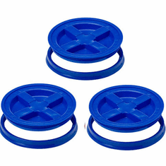 Gamma Seal Lid 5 Gallon Blue - 3 Pack