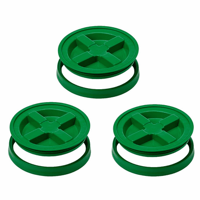 Gamma Seal Lid 5 Gallon Green  - 3 Pack