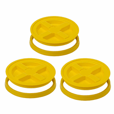 Gamma Seal Lid  5 Gallon Yellow - 3 Pack
