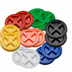 "Gamma Seal Lid  Multiple Colored - Case of 14<br><font color=""#008000""><font size = 2>$5.95 Each</font color></font>"