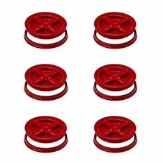 Gamma Seal Lids 5 Gallon Red  - 6 Pack