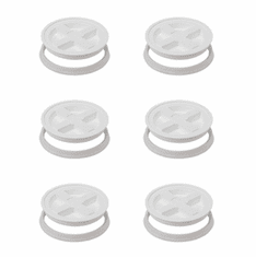"Gamma Seal Lids 5 Gallon White - 6 Pk <br><font color=""#008000""><font size = 2>$5.49 Each</font color></font>"