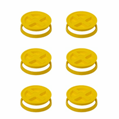 Gamma Seal Lids 5 Gallon Yellow - 6 Pack
