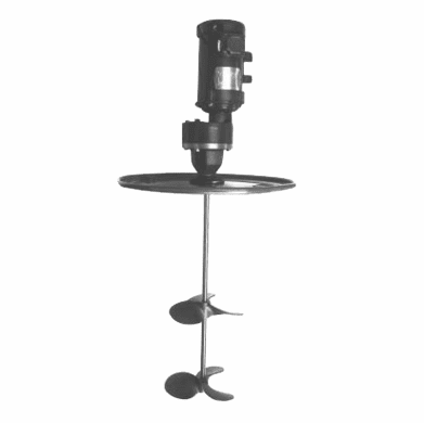 Gear-Drive Drum Lid Mixer, Air Motor,1½ hp, 2-10