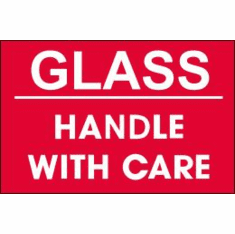 Glass, Handle With Care 4 x 3  500 Pack