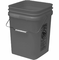 "Gray Economy Square 4 Gallon Plastic Bucket, 18 Pack<br><font color=""#FF0000"">Free Shipping</font>"