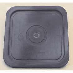 "Gray Lid for Square 4 Gallon Plastic Bucket,no Gasket,18 Pack<br><font color=""#FF0000"">Free Shipping</font>"