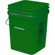 "Green Economy Square 4 Gallon Plastic Bucket, 18 Pack<br><font color=""#FF0000"">Free Shipping</font>"