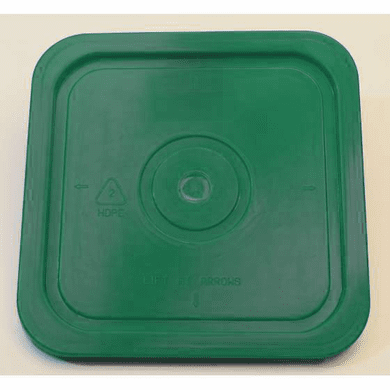 Green Lid for Square 4 Gallon Plastic Bucket,no Gasket,18 Pack