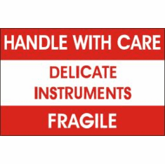 Handle With Care, Delicate Instruments, Fragile 3 x 5  500 Pack