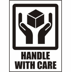 Handle with Care International Label 3 x 4  500 Lables per Roll