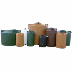 Harvest Rain Water Storage Tanks | 5 Year Manufacturer Warranty | Poly-Mart® With Screen and Cover, Overflow, 2- Outlet Bulkheads