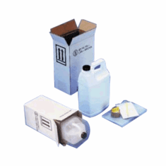 Hazmat UN 4G Packaging Kits with + white square gallon bottle  1-1 gallon
