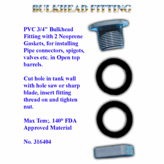 "Heavy Duty Bulkhead Fitting For  3/4"" Faucet"