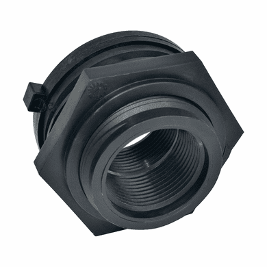 "Heavy Duty Bulkhead Fitting For  3/4"" Polypropylene Faucet"