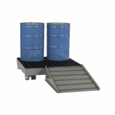 Heavy Duty Steel Spill  4-drum forkliftable platform