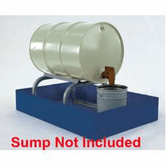 Horizontal Drum Racks All-Steel Spill Containment One - 55 gallon drum 24 x 24 x 14