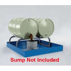 Horizontal Drum Racks All-Steel Spill Containment Two - 55 gallon drum 48 x 24 x 14