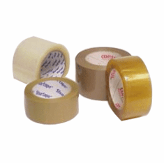 Hot Melt Adhesive Tapes Plastic Carton Sealing Clear Tan 2 x 110   36 Rolls
