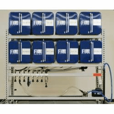 IFH Oil Storage and Dispensing Systems 2 x 4 Eight Containers | 18 gauge steel tanks with 16 gauge heads