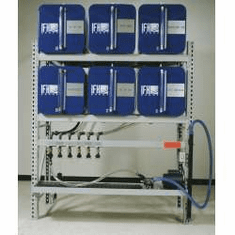 IFH Oil Storage and Dispensing Systems 2x3 Six Containers |  18 gauge steel tanks with 16 gauge heads