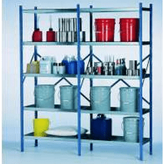 Industrial Containment Storage Shelves |  8 Shelf System | 72 Inch X 24 Inch