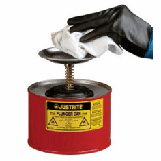 Justrite Job Matched Plunger Safety Cans Polyethylene 1 quart