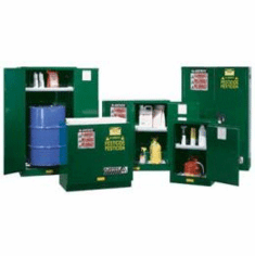 Justrite Pesticide Safety Storage Cabinets 1-55 gal. drum  2-door self-closet