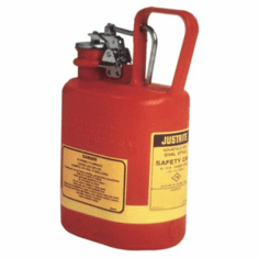 Justrite� Safety Cans 1/2 gal, Oval  w/Stainless Steel Fittings