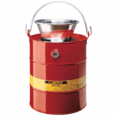 Justrite Solvent Safety Drain Cans
