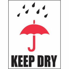 Keep Dry International Label 3 x 4  500 Lables per Roll