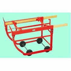 Knocked Down Baytec's Popular Combination Drum Cradle, Hard Rubber