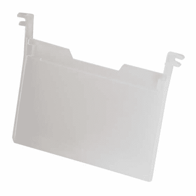 """Label Holders Nest & Stack Containers Clear plastic holder for 3 3/4"""" x 5"""" labels 6 Pack"""