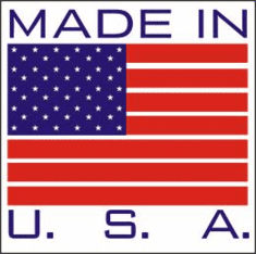 Made in USA Labels 1 x 1  500 Pack