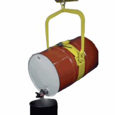 Manual Drum Dumper Handles Different Size Drums