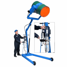 Manual Tilt/Power Lift Hydraulic  Drum Handler, Battery,72""