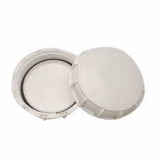 """Mauser White 6"""" Solid Cover W/Gasket"""