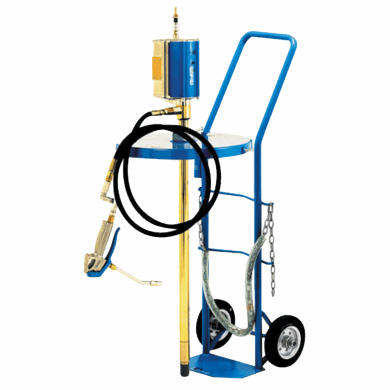 Mobile Heavy Duty Grease Pump, 55 Gallon , With Trolley