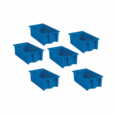 Nest & Stack Containers 0.050 Cu Ft  6 Pack Blue