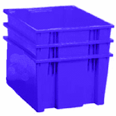 Nest & Stack Containers 2.60 Cu Ft 3 Pack