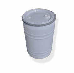 New 30 Gal Plastic Drum Open Top White, Free Shipping