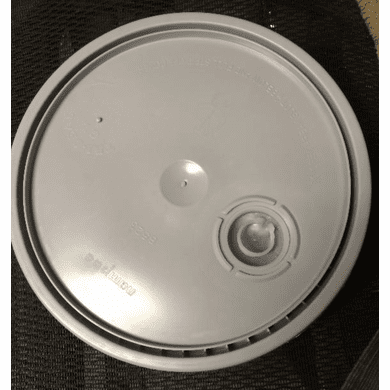 New 5 Gal (20L) Bucket Lid, Gray, W/ Poly Resealable - 3 Pack