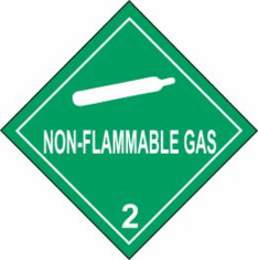 Non-Flammable Gas 2 D.O.T. Label