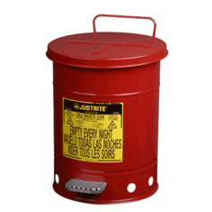 Oil Waste Can, 10 gallon, Foot Operated, Justrite
