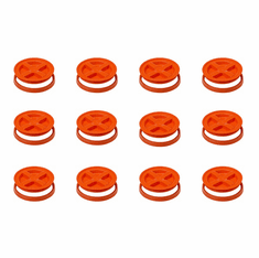 "Orange Gamma Seals -12 Pack<br><b><font color=""green""><font size = 3> FREE SHIPPING</font color></b></font>"