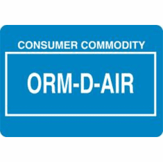 ORM-D-AIR, Consumer Commodity