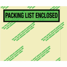 """Packing List Enclosed Envelopes 7"""" x 5.5"""" Case Of 1,000"""