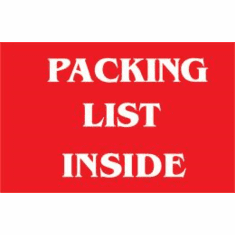 Packing List Inside 1 1/2 x 3  500 Pack