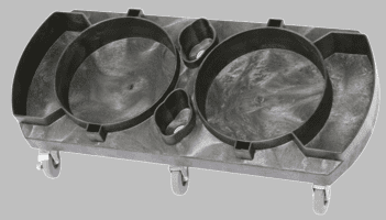 Pail Pal® Plastic Double Bucket Dolly DISCONTINUED
